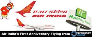 Air India's First Anniversary flying from Birmingham Airport
