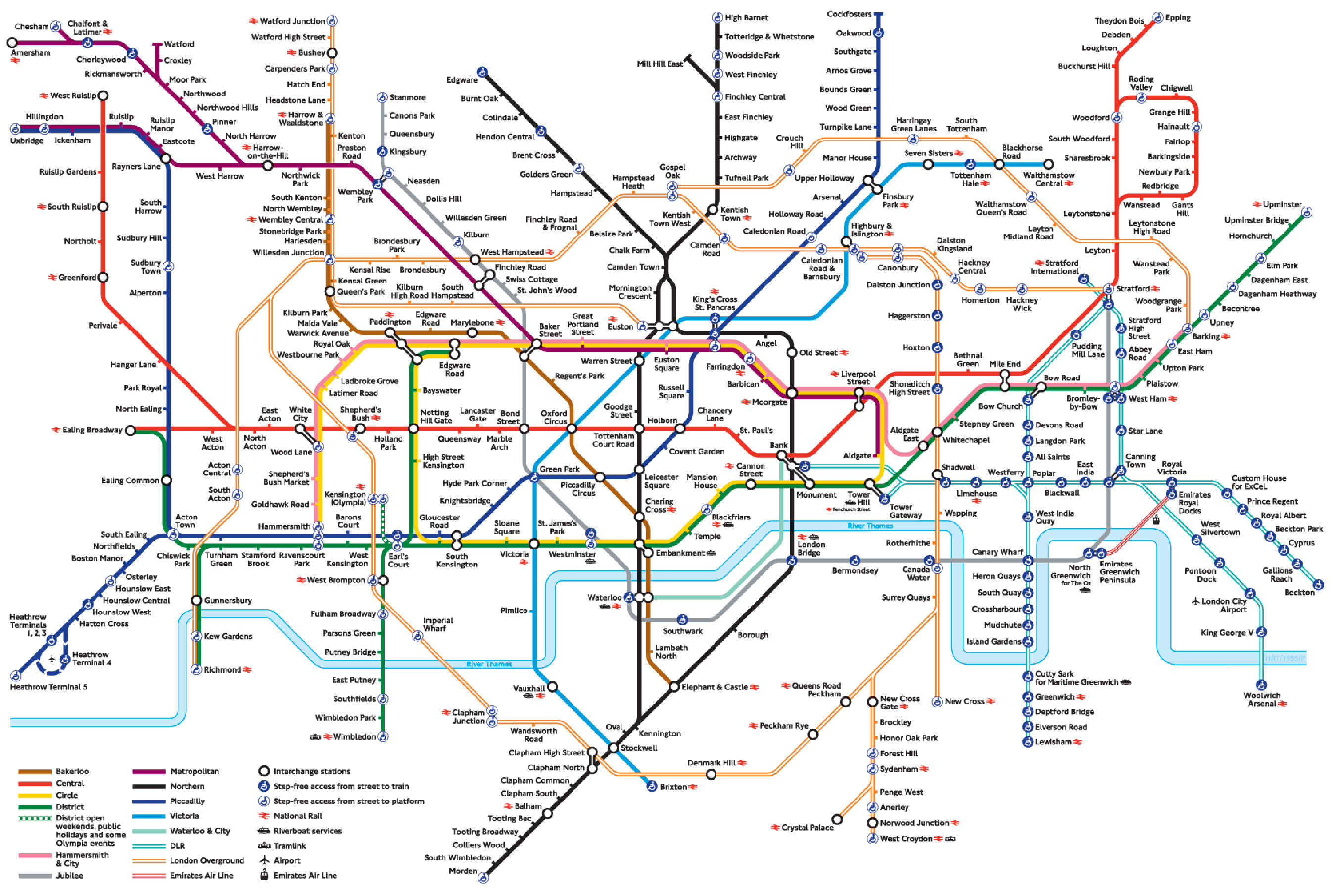 London Tube Map and Zones 2015 | Chameleon Web Services ®