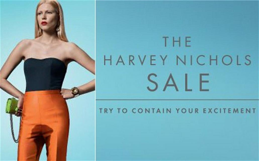 The Harvey Nichols Sale Advert