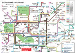 London Attractions Visitors Guide Map