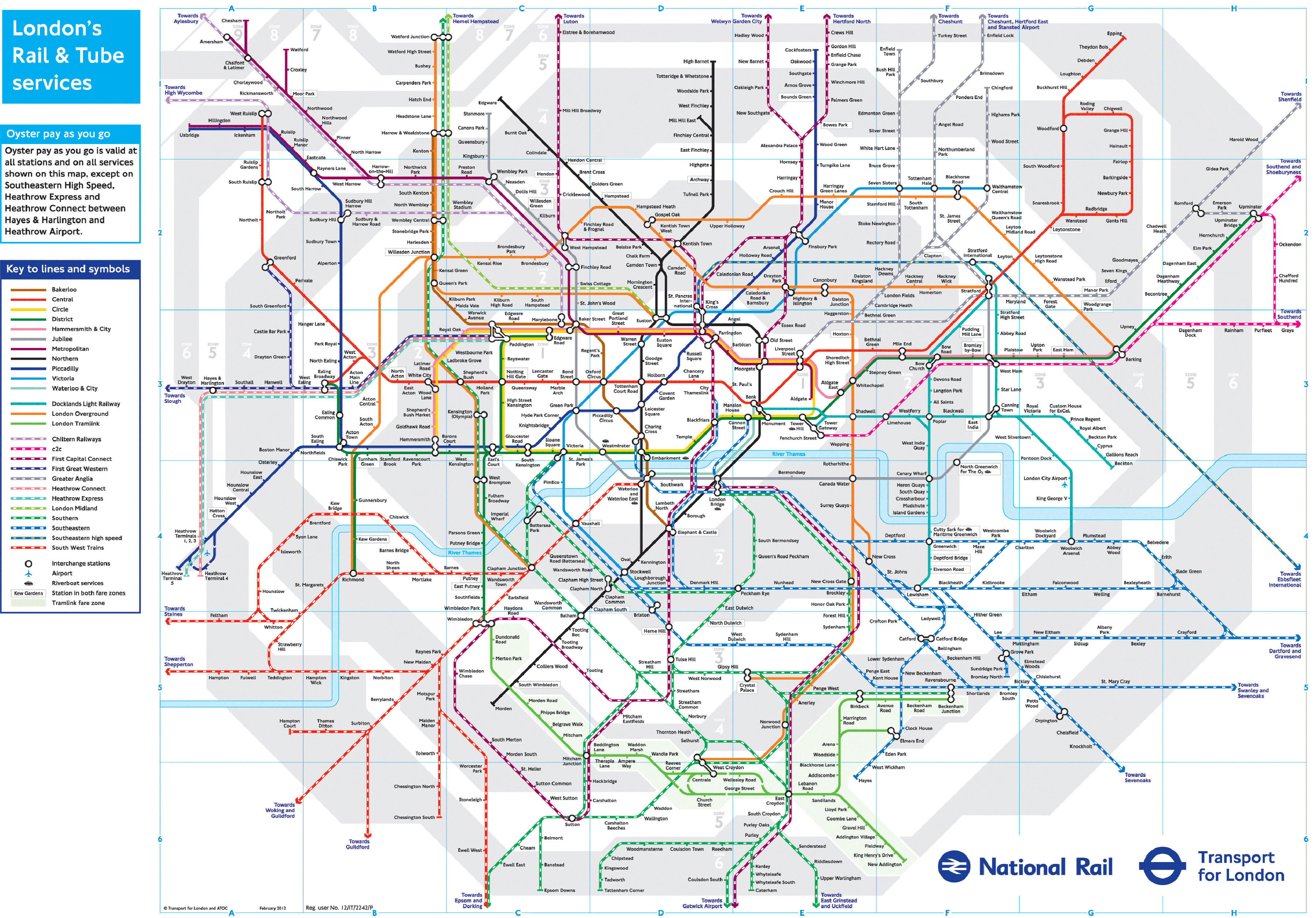 Tube Zones Map London Tube Maps and Zones 2018 | Chameleon Web Services ®