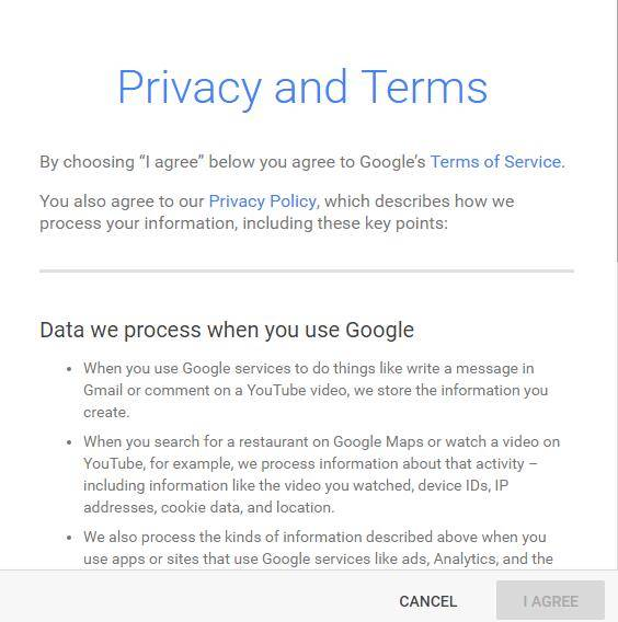 adwords privacy and terms