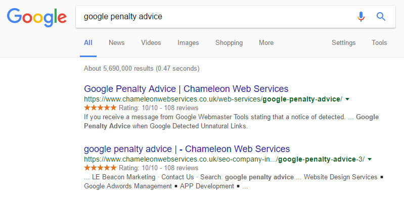 Google Penalty Advice in Birmingham