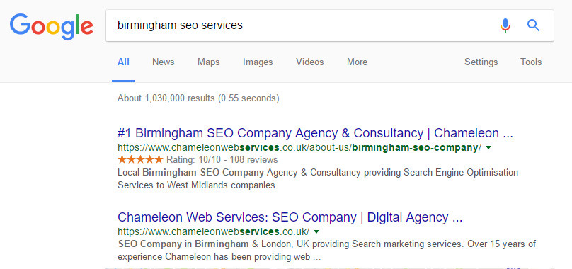 Birmingham SEO Services Google Search