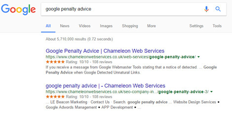 Google Penalty Advice