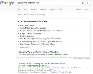 google search police jobs
