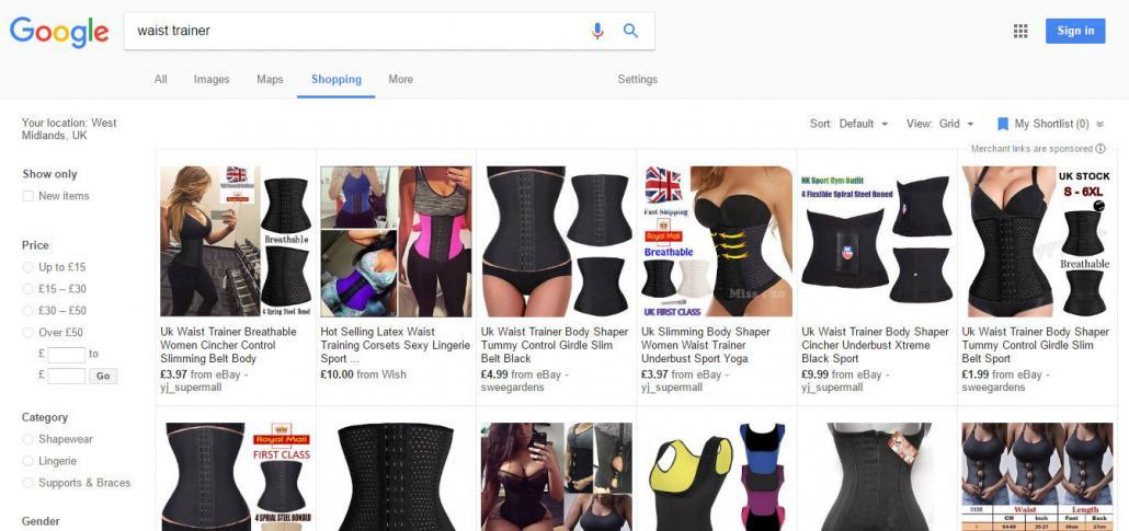 Waist Trainer shopping images