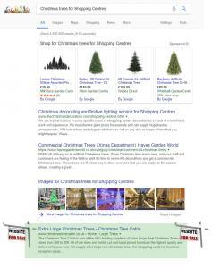 Christmas trees for Shopping Centres