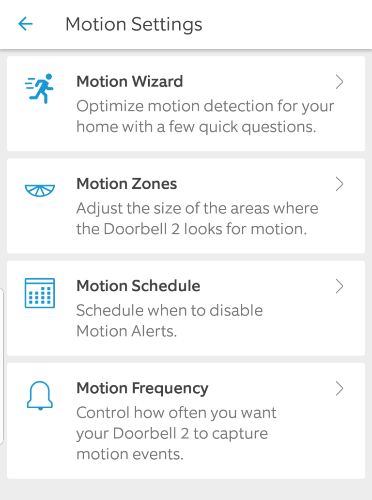 Ring Video Doorbell 2 Motion Settings