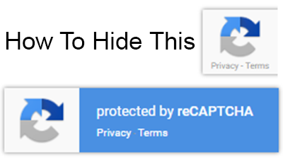 Google reCAPTCHA badge always showing