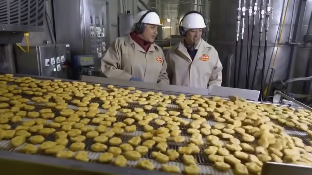 chicken mcnuggets battering process
