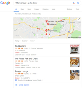 Google RankBrain Where Should I Go For Dinner