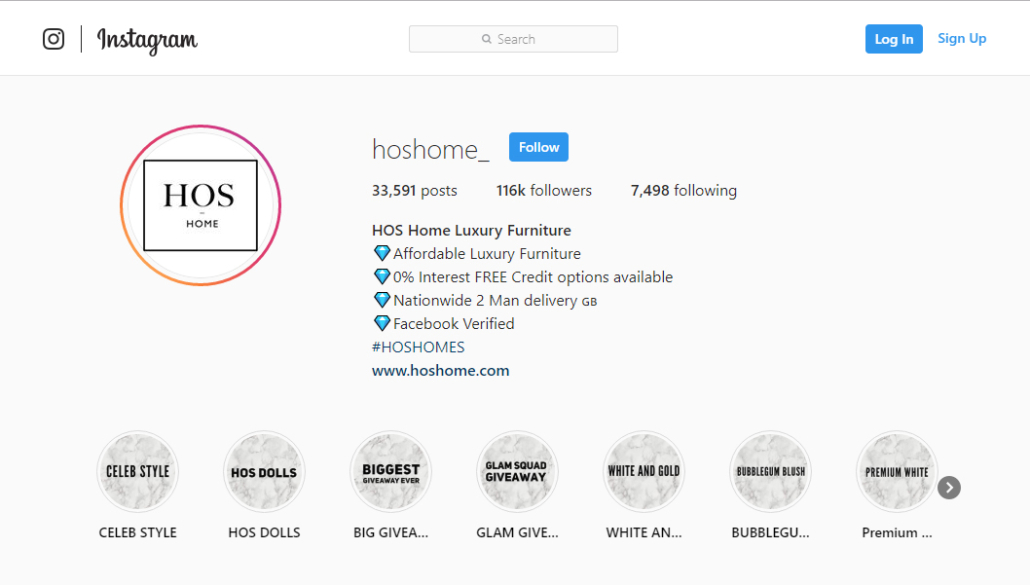 HOS Home Instagram