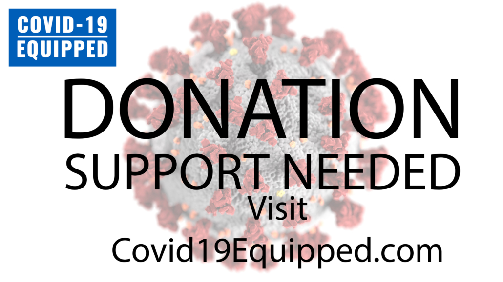 covid19equipped.com donation support needed